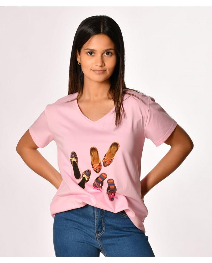 T-shirt sapatilhas
